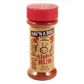 BBQ Bob's Alpha Barbecue Rub  6 OZ